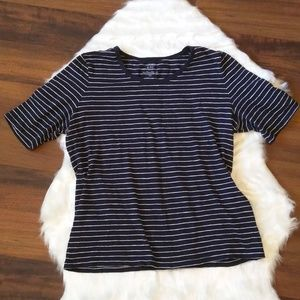 Crown & Ivy striped t-shirt petite small